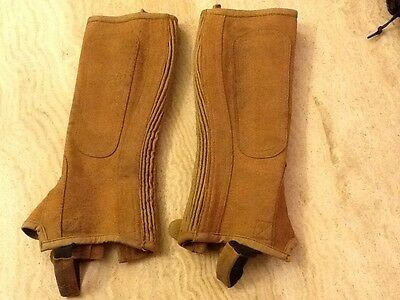 Shires tan suede/leather chaps size CL