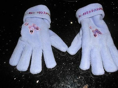 GIRLS Lilac Beautiful Butterfly Matching Gloves -Immaculate condition