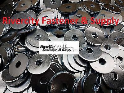 """(100) Extra thick Heavy Duty Fender Washers 1/2"""" x 2 """" Large OD 1/2x2"""
