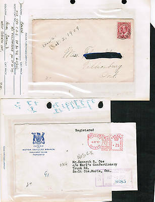 CANADA FIVE+ SPECIAL POST MARKS** (RPO's etc) on covers used cat $30.00 LOT304-5