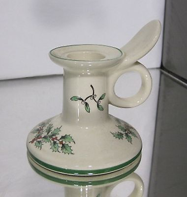 Spode Christmas Tree Low Candlestick Holder Single