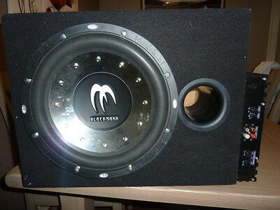 "12"" Blackmaxx Sub Woofer and Pro-Plus 660 Wat amplifier In Carpeted Box"