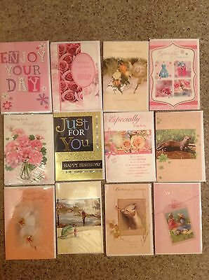 12 Assorted birthday cards