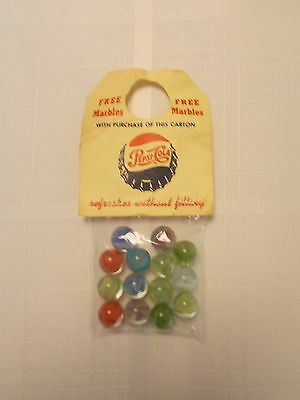 """Vintage Pepsi-Cola """"Bag of Marbles"""" Promotion for Buying Carton of Pepsi~ca 50s"""