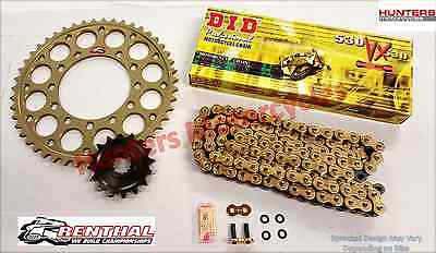 Yamaha YZF-R1 Renthal Sprockets & DID Gold X-Ring Chain  Kit Set (1998 to 2003)