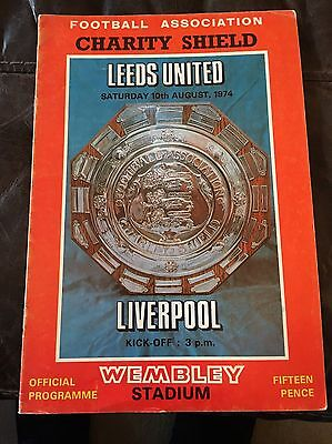 Leeds V Liverpool 1974 Charity Shield Programme