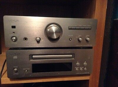 denon UPA F10 integrated amplifier stack, cd, tuner and cassette