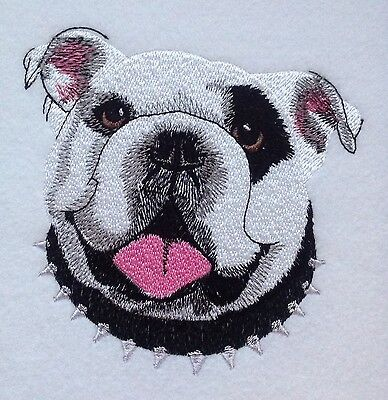 Completed Embroidery American Bulldog