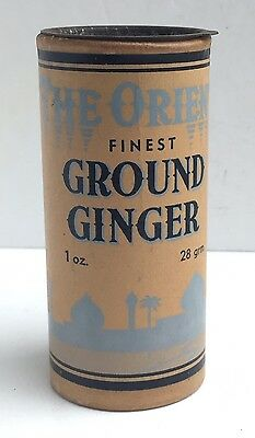 Vintage 'The Orient' Ground Ginger Card Tub - Pearce Duff & Co., Ltd. - Empty