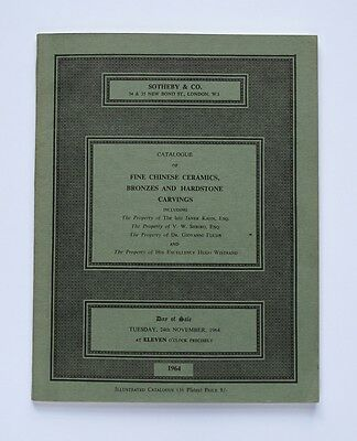 1964 Sothebys Auction Catalogue Chinese Bronzes and Hardstone Carvings