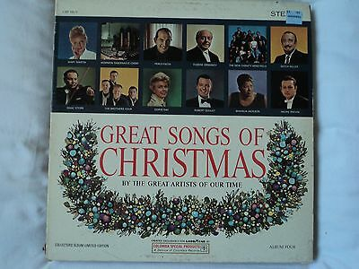Great Songs Of Christmas Vol 4 - Various Artists ~ US pressing RARE ~ EX / VG
