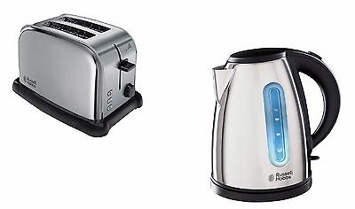 Russell Hobbs Orleans Kettle And 2 Slice Toaster Set In Polished Steel