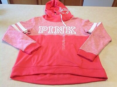 New Release Pink By Victoria's Secret Hooded Pullover Sweatshirt Large