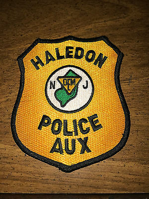 Haledon New Jersey Police Auxiliary Patch Passaic County