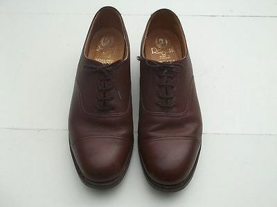 True vintage MENS SHOES  brown leather oxford toecap size 10 made by REGENT