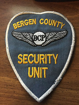Bergen County Police New Jersey Security Unit Shoulder Patch