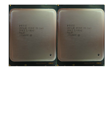 2X Intel Xeon 8-Core Processor E5-2665 20M Cache, 2.40 GHz, SR0L1 Matched