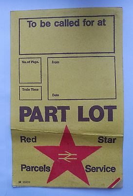 Red Star Parcels Label, BR25970, Unused, British Rail