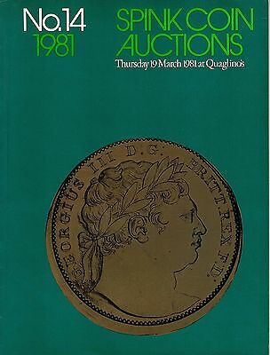 SPINK Auction 14 19th March 1981 English Milled Gold & Silver Crown coins