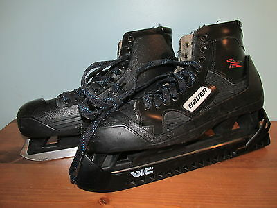 Nike Bauer Reactor 1000 SR Goalie Adult 10 D Goal Ice Hockey Skates