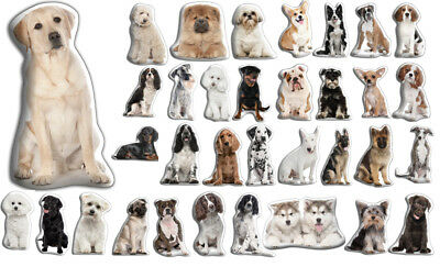 Adorable Dog Shaped Cushions 40+ Designs Polyester Satin Drill Velour New