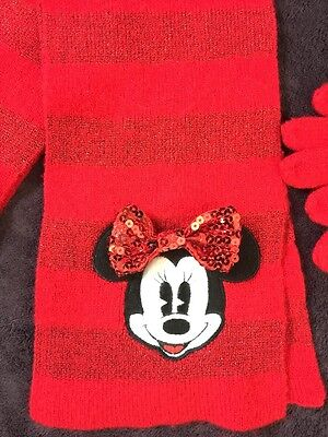 """Disney Store"" Minnie Mouse Scarf & Gloves Set"