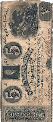 The Commercial Bank of Forterie Upper Canada Bank Note $5 1837