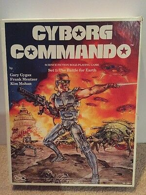 Very RARE Cyborg Commando Science Fiction Role-Playing Game-Complete!!
