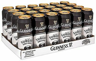Guinness Surger Cans 24 x 520ml 4.1% Alcohol Volume Activate Perfection at Home