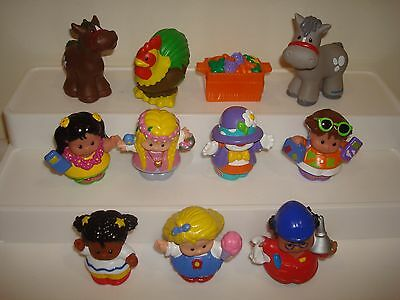 Fisher Price Little People Replacement Figures X 10  (Lot 1 )