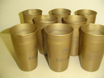 8 (eight) Bacardi Cuba Libre tin cups - 12 ounce - New