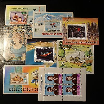 Niger Bloc Feuillet N°4 25 27 30 33 34 37 43 Neuf **  Luxe Mnh
