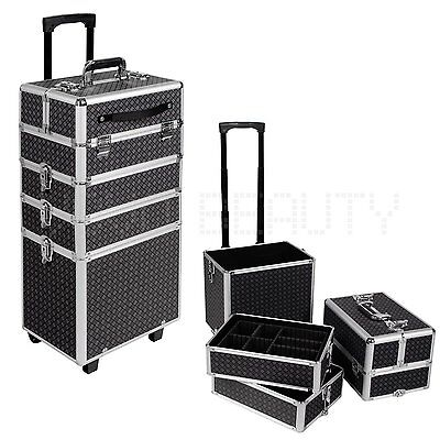 Large 4 in 1 Makeup Nail Box Vanity Hairdressing Cosmetic Beauty Case Trolley