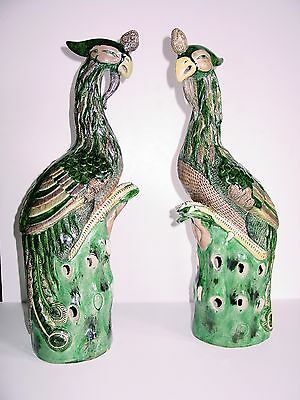 Pair Of Antique Chinese Pheonix Statues