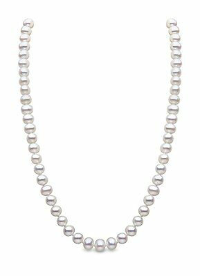 Kimura Pearls White 6-6.5 mm Freshwater Pearl Sterling Silver Necklace of 46 cm