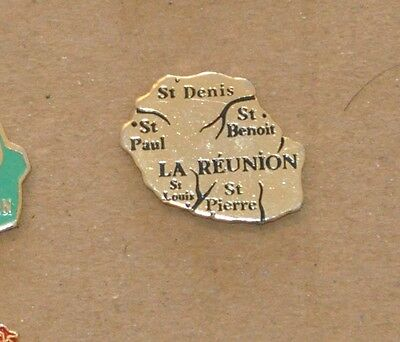 Pin's - Ile de la Réunion - carte