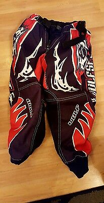 Wulfsport Red Kids  Motocross /trials Pants Trousers Youth Child