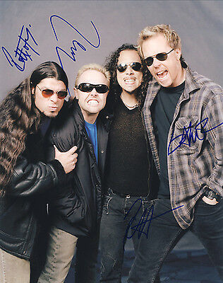 """Metallica Hand Signed By Band """"World Tour"""" Promo 10x8 !"""