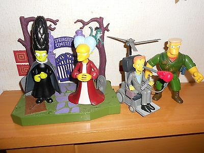 simpsons world of springfield wos figures cemetery stephen hawking marge rare