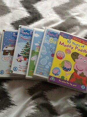 Peppa Pig DVD Collection x 5