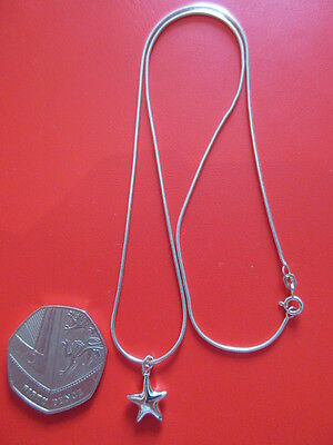Sterling Silver Necklace With Star Pendant