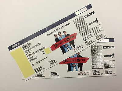 2 x Depeche Mode 09.06.2017 München Olympiastadion TOP TICKETS