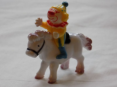 Wind up toy, clown on pony, Mini Rider by Hans. Boxed