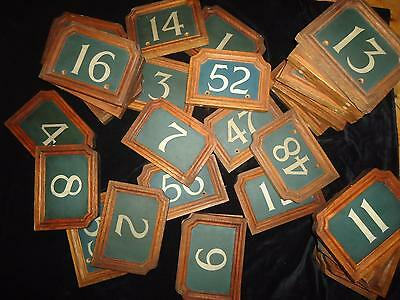 Antique oak room number plaques hotel B&B restaurant retail library 1920s signs