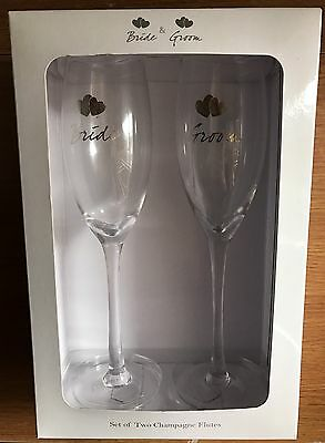 Bride And Groom Champagne Glasses Ideal Gift Wedding SALE SALE SALE