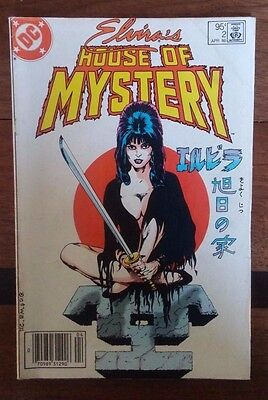 Elvira House of Mystery #2 DC comic Canadian Price Variant ~VG/F