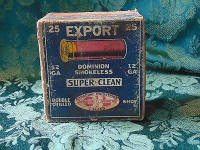 Antique Rare Export CIL Canadian Industries Limited Shotshell Shotgun Box Empty