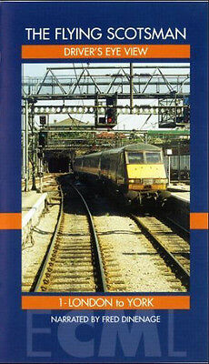 The Flying Scotsman Driver's Eye View 1 - London to York - VHS Video