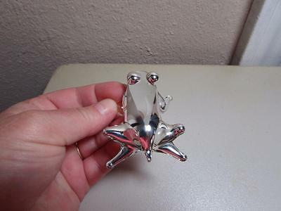 Frog, Blown Glass w/.99 silver overlay by Seclan Artesanos Peru, Glass Frog