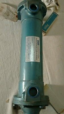 """Perfex Shell & Tube Heat Exchanger Type AHT 3"""" X 18"""" Copper  Tube Steel Shell"""